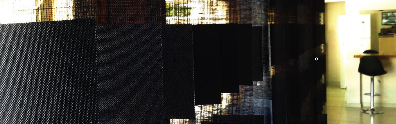 cortinas de bandas verticales con tela dual